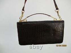 Sac main genuine skin crocodile d'époque vintage Handbag pochette main