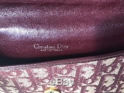 Sac monogramme toile et cuir CHRISTIAN DIOR vintage