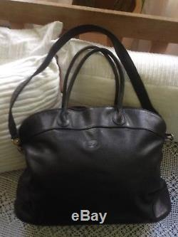 Sac noir cuir longchamp vintage