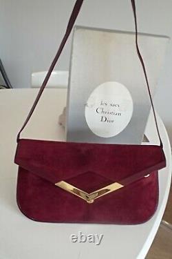 Sac pochette christian Dior vintage 80 boite housse bag bors