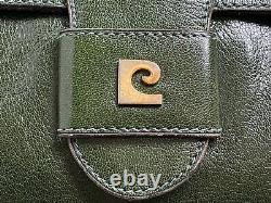 Sac pochette en cuir oversize PIERRE CARDIN vintage1960/1970