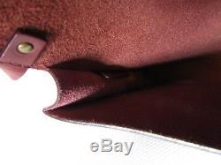 Sac pochette vintage CELINE cuir bordeaux