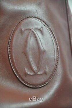 Sac seau bordeaux Les Must De Cartier vintage