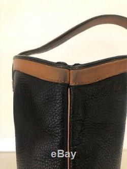 Sac seau et pochette CHRISTIAN DIOR vintage cuir noir