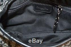 Sac selle, christian DIOR saddle, toile monogramme noir & cuir noir, vintage