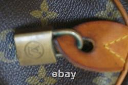 Sac speedy LOUIS VUITTON 40 CM VINTAGE 1970 avec cadenas sans clef