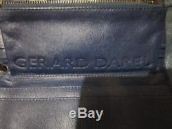 Sac vintage en cuir Gérard Darel série Midnight avec son porte feuille