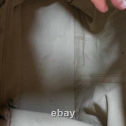 Sac voyage bagage cuir toile GUCCI vintage mode art déco 1950 Italie N6468