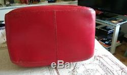 St Dupont Superbe Sac Seau Tout En Cuir Rouge Femme Vintage Collector