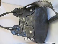 Sublime authentique sac à main HOGAN cuir et reptile vintage bag