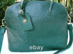 Superbe Sac Longchamp Modèle Bolide Bandoulière Vert Vintage Collector