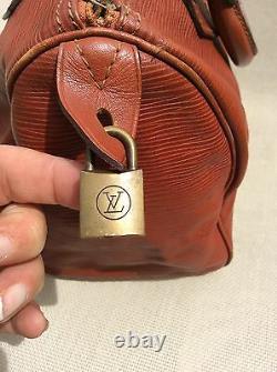 Superbe Sac Speedy 25 Épi Marron Louis Vuitton Authentique Tbe
