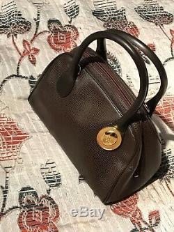 Superbe Sac à mains Christian Dior Vintage Jamais Porté Neuf Cuir Marron 24x16cm