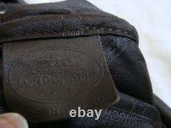 Superbe Vintage Sac LONGCHAMP Cuir Bandoulière marron Made in France foulonne