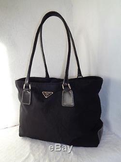 Superbe sac à main Toile & cuir PRADA Authentique(réf 129) & vintage Bag