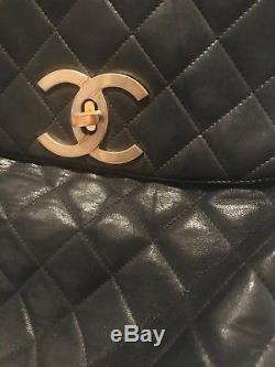 Tres Ancien Sac A Dos Chanel Vintage Annees 80/90 En Cuir Matelasse