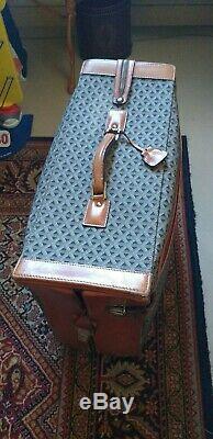 Tres Rare Valise Sac Voyage Goyard Porte Habits, Toile Tissée, Cuire, Vintage