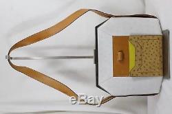 Unique Sac Hermes Vintage en autruche et cuir