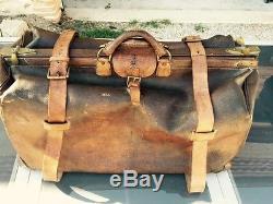 Moynat Gladstone Diligence Vintage Leather Sac Voyage Par De En Cuir Bag rBdoCxe