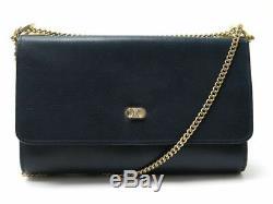 Vintage Sac A Main Celine 24 CM En Cuir Graine Bleu Marine Hand Bag Purse 1350