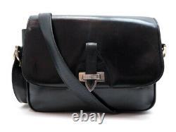 Vintage Sac A Main Celine Bandouliere En Cuir Box Noir Black Leather Handbag
