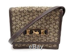 Vintage Sac A Main Celine Besace Toile Monogrammee & Cuir Marron Hand Bag Purse