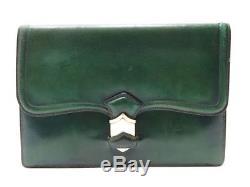 Vintage Sac A Main Hermes 24 Fg St Honore Pochette En Cuir Box Vert Clutch Purse