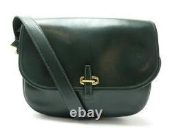 Vintage Sac A Main Hermes Balle De Golf Cuir Box Vert Bandouliere Hand Bag 6850