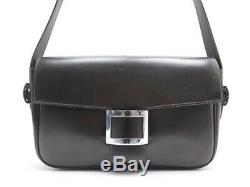 Vintage Sac A Main Hermes Boucle En Cuir Box Marron Brown Leather Hand Bag Purse
