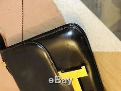 Vintage Sac A Main Hermes Constance En Cuir Box Marron Hand Bag Purse 6850