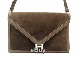 Vintage Sac A Main Hermes Lydie Bandouliere Cuir Veau Doblis Boucle H Dore Bag