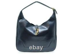 Vintage Sac A Main Hermes Trim 31 En Cuir Box Bleu Marine Leather Hand Bag 4200