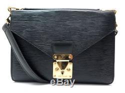 Vintage Sac A Main Louis Vuitton Monceau Cuir Epi Sellier Bandouliere Bag 1600