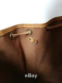 Vintage Sac A Main Louis Vuitton Noe Toile Monogram Brown Canvas Handbag