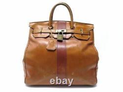 Vintage Sac De Voyage A Main Hermes Birkin Haut A Courroie Hac 40 Cuir Box Bag