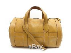Vintage Sac De Voyage A Main Hermes Rd Bandouliere Cuir Togo Gold Bag 3500