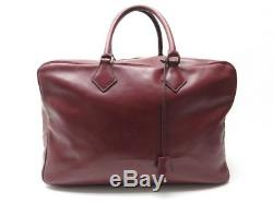 Vintage Sac De Voyage Hermes Victoria 45 En Cuir Box Bordeaux Travel Bag Luggage