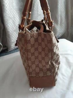 Vintage Sac Gucci en Toile Monogrammé Et Cuir Gucci Vintage Monogram Bag