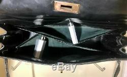 Vintage Sac Hermès Kelly 32 en cuir noir