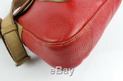 Vintage UPLA Sac Besace Bandoulière CUIR Rouge Très bon état