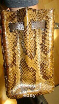 Vintage chic Sac a main Vimar en cuir reptile d'élevage