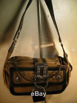 Vintagesac Christian Dior Daim Caramel+cuir Couleur Sanglier