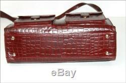 YVES SAINT LAURENT Sac Vintage Cuir Embossé Rouge Hermès RARE Certifié TTBE