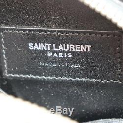 Yves Saint Laurent Pistolet Sac à Bandoulière Noir Cuir Italie Vintage