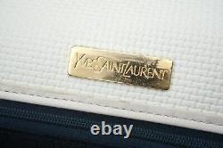Yves Saint Laurent Vintage Sac Bandoulière Pochette Ysl Logo PVC Blanc 5572h